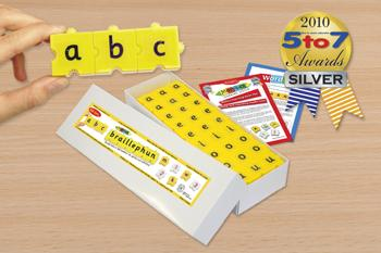Braillephun Lower Case letters set in a white Carton - 42051C