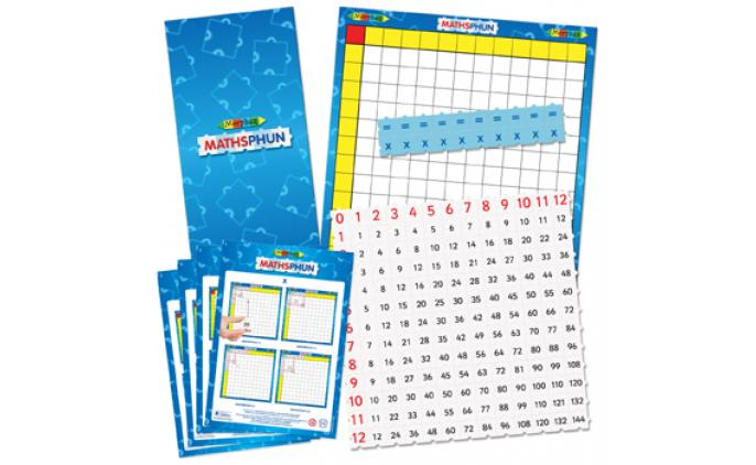 Maths Multiplier 12x12 set with board in a bag - 42048B