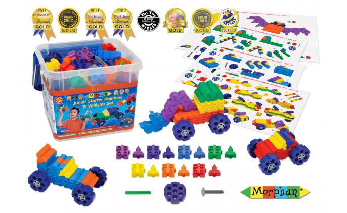 Junior Starter Rainbow 12 Vehicles - 52404S