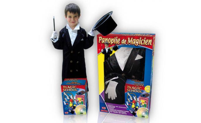 Zauberkostüm für 5-7 Jahre mit über 100 Tricks und DVD